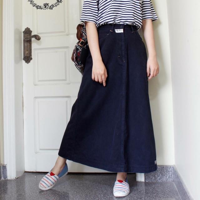Chân váy jeans xoè