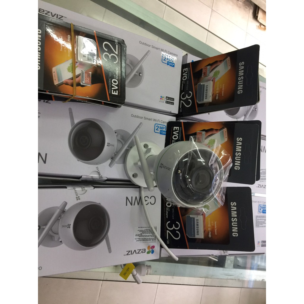 Combo Camera IP Wifi Ezviz C3WN + thẻ nhớ 32Gb