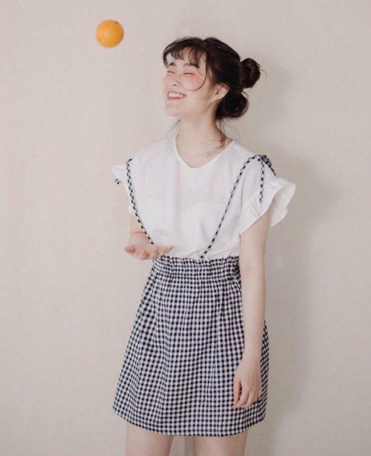 Váy caro áo bèo [ CLIP QUAY THẬT ]