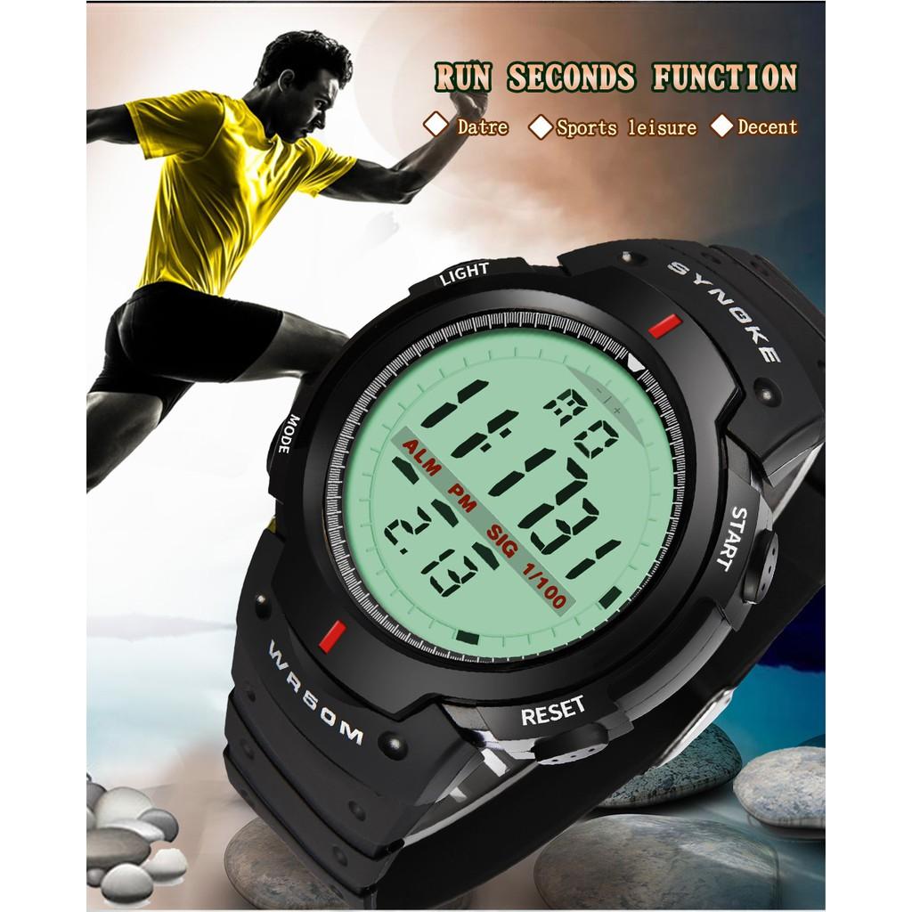 Đồng hồ nam phong cách thể thao SYNOKE S0011 điện tử dây nhựa dẻo cao cấp