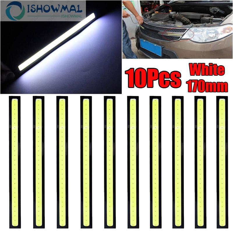 Bar lights 10pcs Waterproof Parts LED Auto Driving Daytime Running Lamp White PC Shockproof Accessories Useful