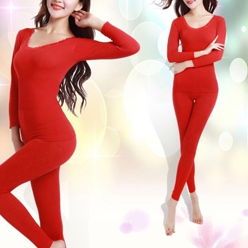 Bộ đồ dài tay giữ ấm phong cách mùa đông cho nữ