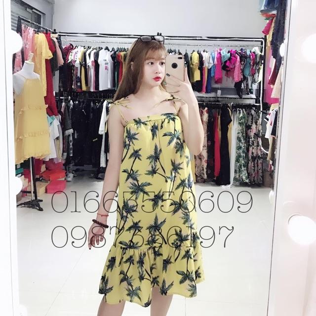 váy 2 dây cây dừa