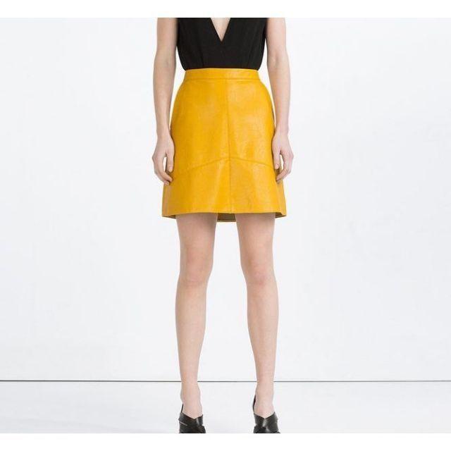 Chân váy da chữ A Ulzzang Quảng Châu LT5236