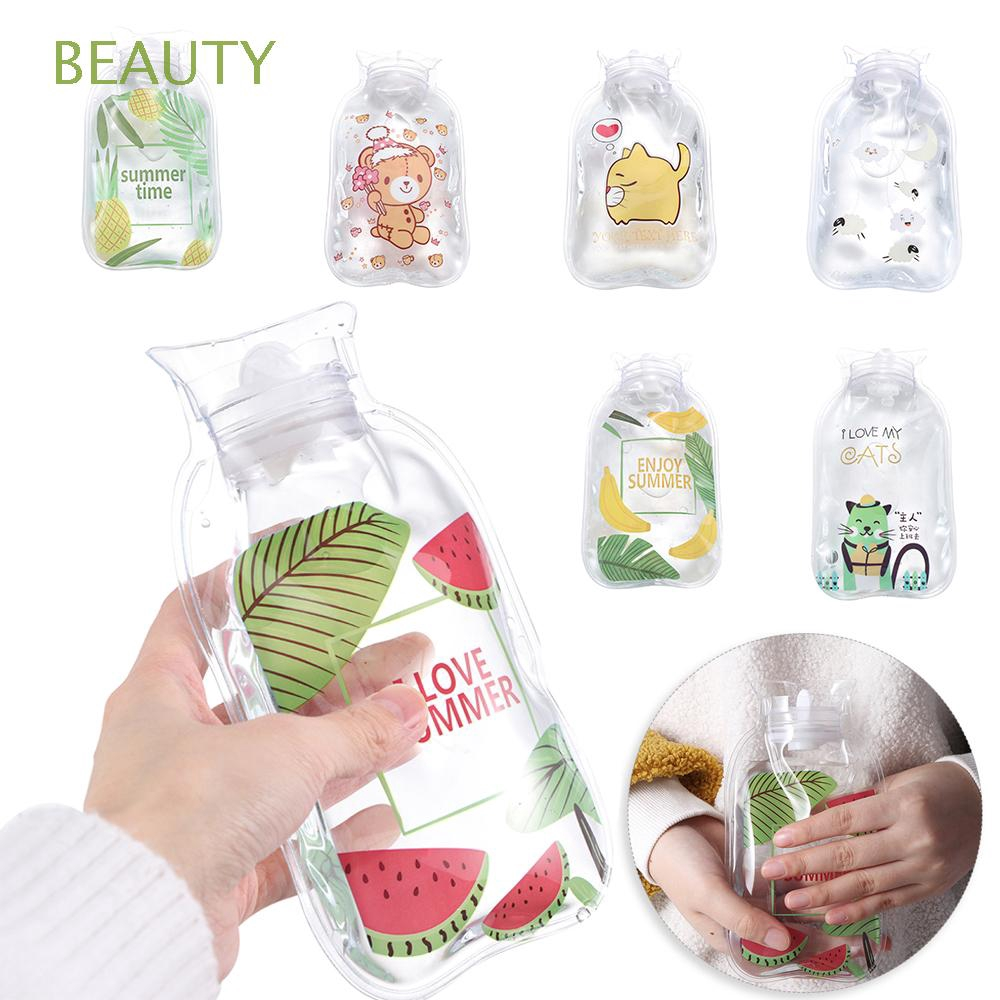 BEAUTY Reusable Portable Transparent Warming Products Cartoon Hot Water Bottles