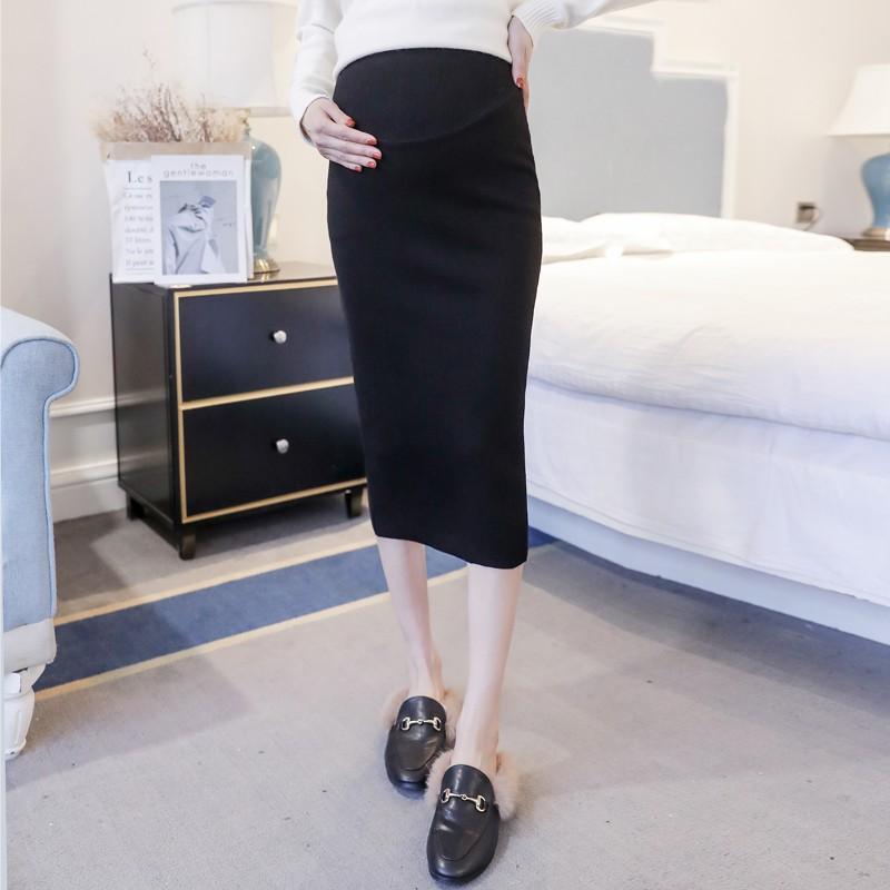 Chân váy bút chì dài lưng cao thời trang mùa xuân 2019 cho bà bầu