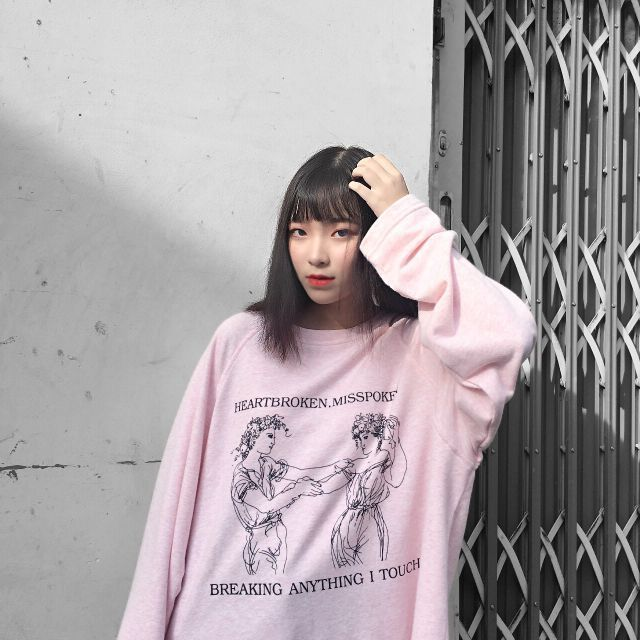 Breaking sweater(pink)