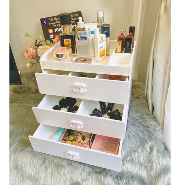 Kệ đựng mỹ phẩm 4 tầng trắng 30cm , tủ đựng mỹ phẩm , đựng đồ trang điểm và đựng đồ makeup tiện dụng