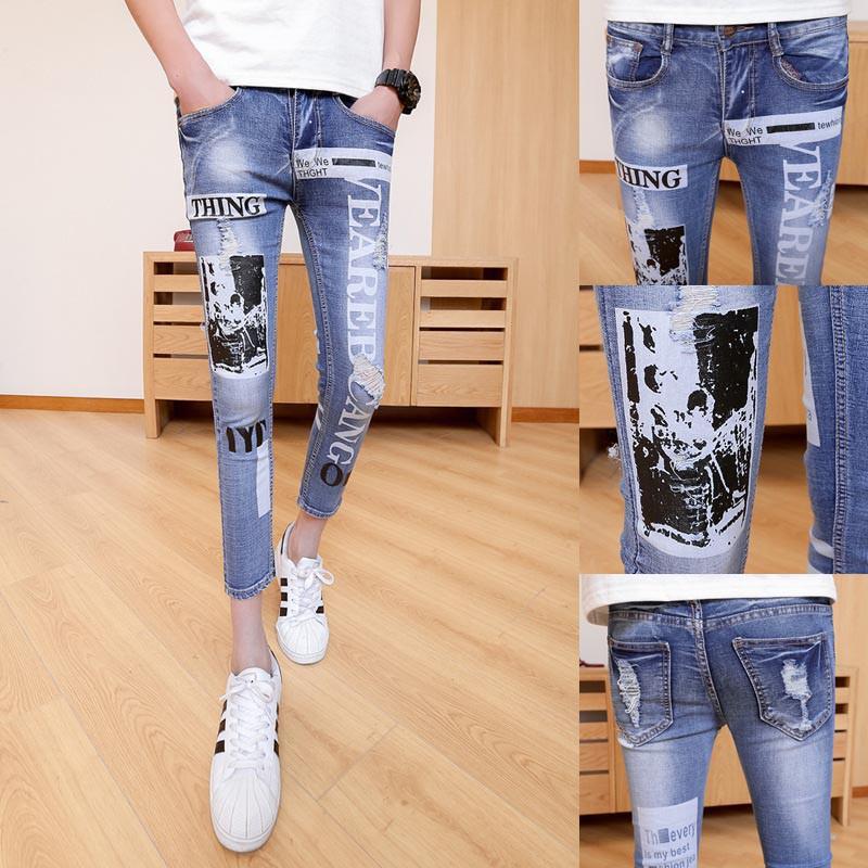 quần jeans nam rách thing Mã: ND1002