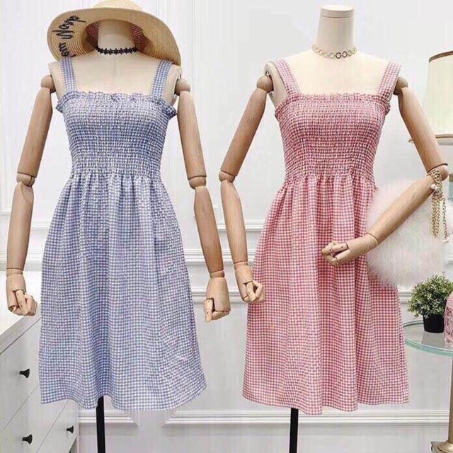 Váy hai dây chun