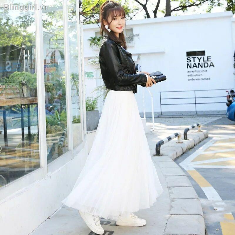 Chân váy xếp li phong cách Hàn Quốc xinh xắn dành cho nữ