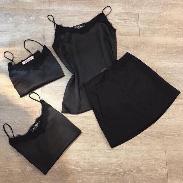 Chân váy đen L