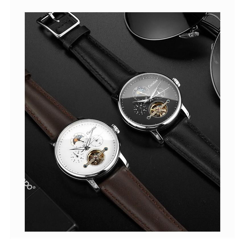 Đồng hồ thời trang dây da Nam tự động CUCALUN - 8811PD