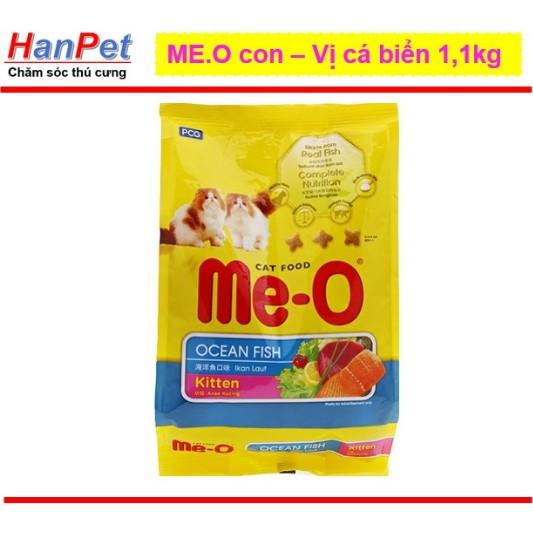 [Mã PET1807 hoàn 8% xu đơn 300K] Thức ăn dạng hạt mèo con - ME-O kitten vị cá biển (LADIEP 204c) (gói 1,1kg)