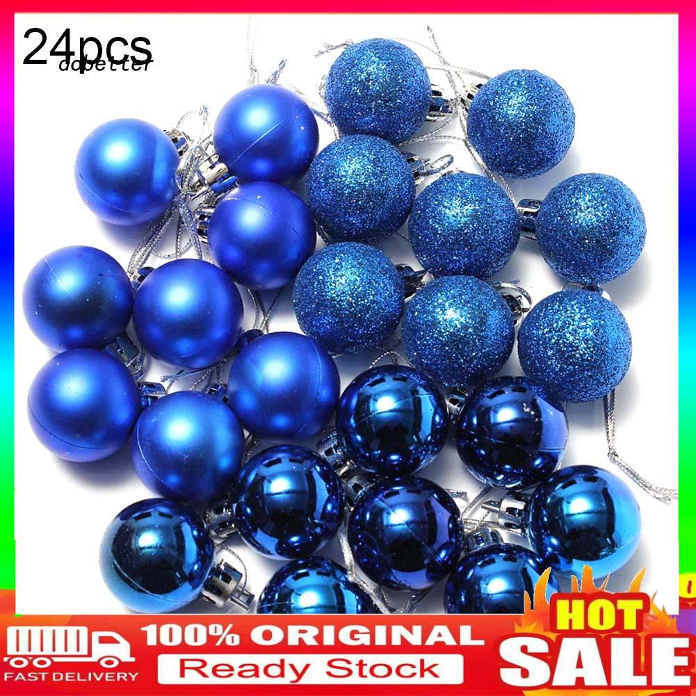 【DO.SD】 24Pcs 3cm Plastic Christmas and Halloween Tree Balls Baubles Home Party Hanging Ornaments