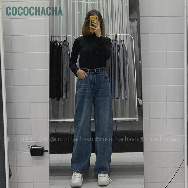 #Q1044CS quần jeans ống suông