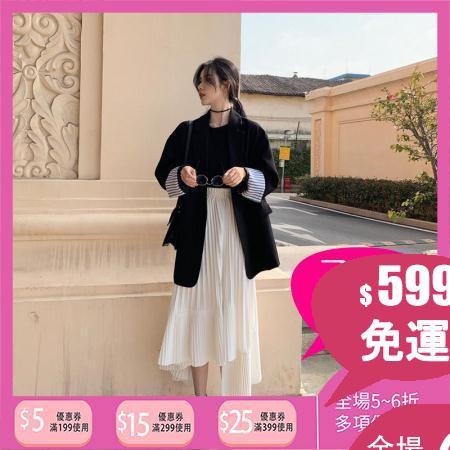 Set Đồ Thể Thao Áo Khoác + Chân Váy Lưng Cao Thiết Kế Không Đồng Đều Thời Trang Dành Cho Nữ