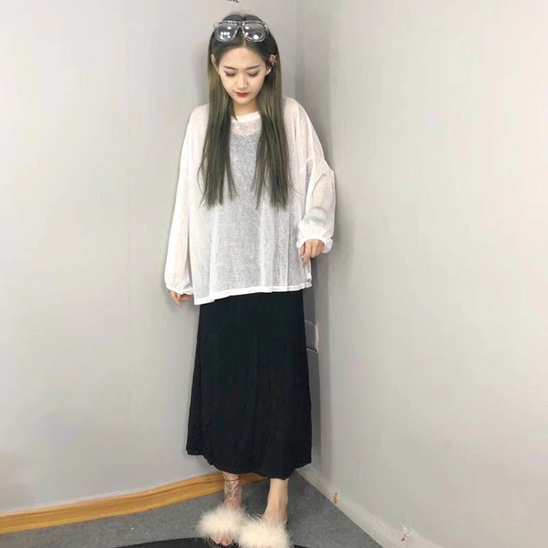 Set Áo Kiểu Tay Dài + Chân Váy Xòe Xinh Xắn Cho Bé Gái