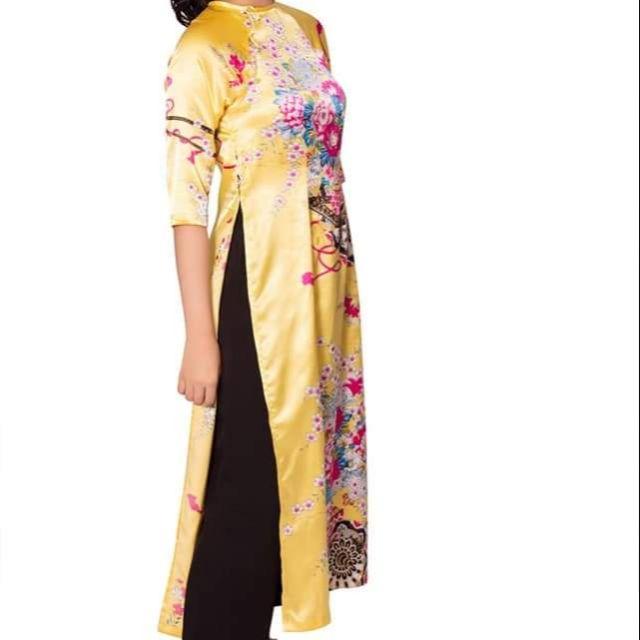 Áo dài cách tân vải gấm xịn ( duyên dáng VIỆT NAM)