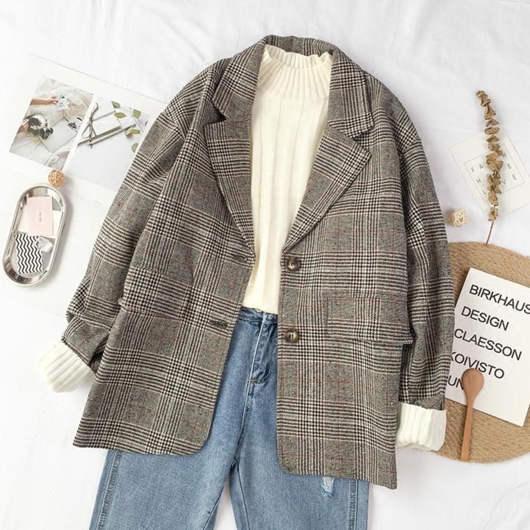 áo khoác nữ kiểu dáng hàn quốc phù hợp cho thu đông