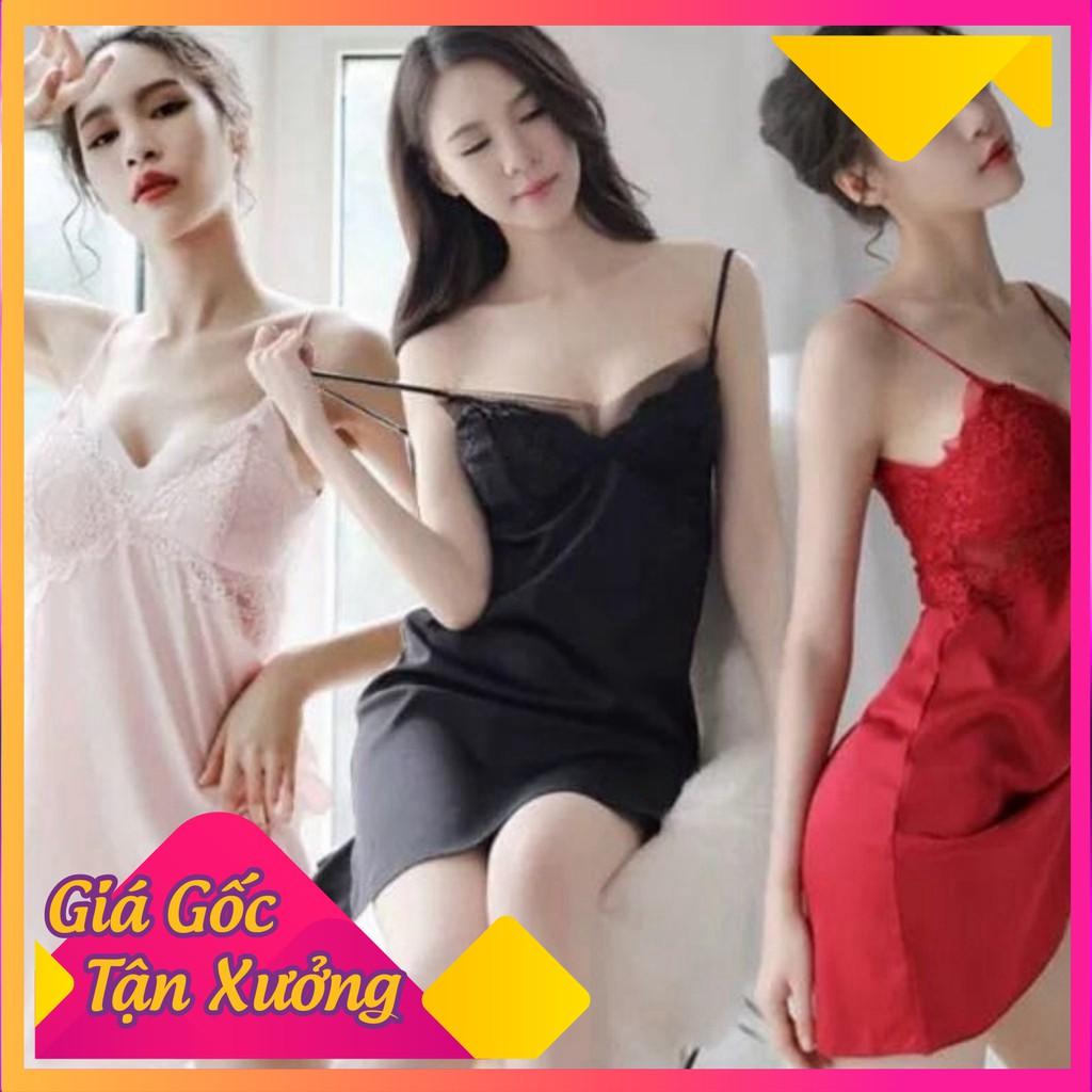 [Siêu Hot] Váy đầm ngủ hai dây phối ren ngực hở lưng gợi cảm cao cấp dành cho nàng