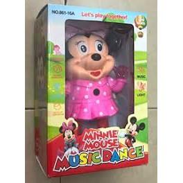 Chuột mickey nhảy pin có nhạc có đèn ( tặng kèm pin)