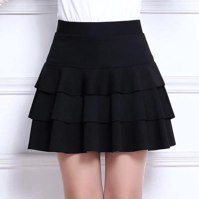 [Mã WAPUSH giảm 15% đơn 50K] Chân váy xoè 3 tầng ngắn Uzzang