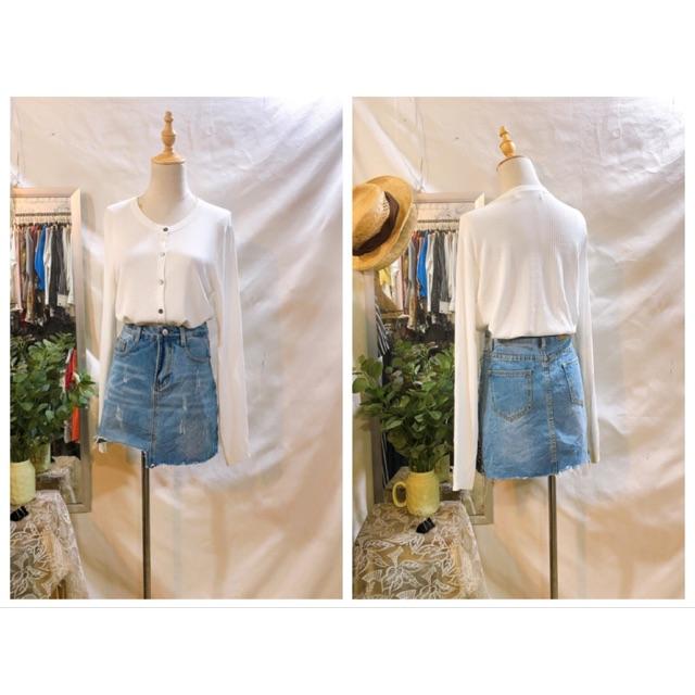 Chân váy jeans Hàn