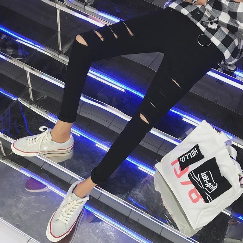 Quần Jeans Rách Lưng Thấp Thời Trang Xuân Hè Cho Nam