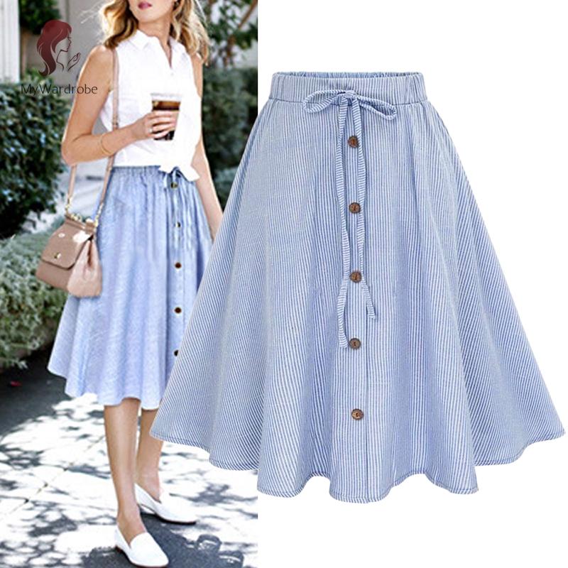 Chân váy xòe lưng thun phong cách cổ điển dành cho nữ