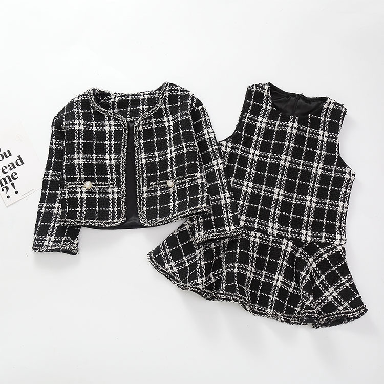 Set Áo Dài Tay + Chân Váy Thời Trang Xuân Thu Theo Phong Cách Hàn Quốc Dành Cho Bé Gái