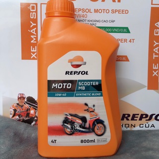 Hình ảnh Nhớt Repsol Scooter Synthetic 10w40 MB 800ml