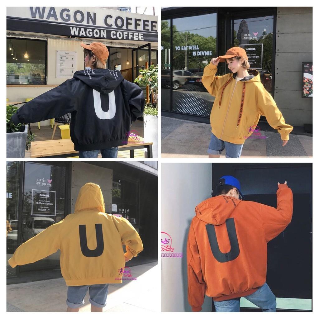 [new] Áo khoác dù chữ U TheBasic form rộng áo khoác dù, áo chống nắng