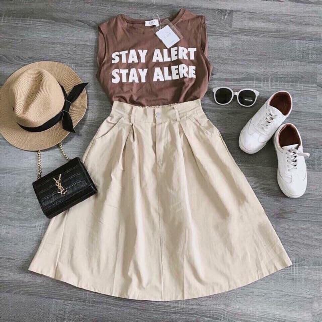 Set chân váy - áo thun