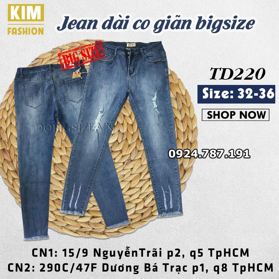 Quần Jean Dài Co Giãn TD220 size 32-36