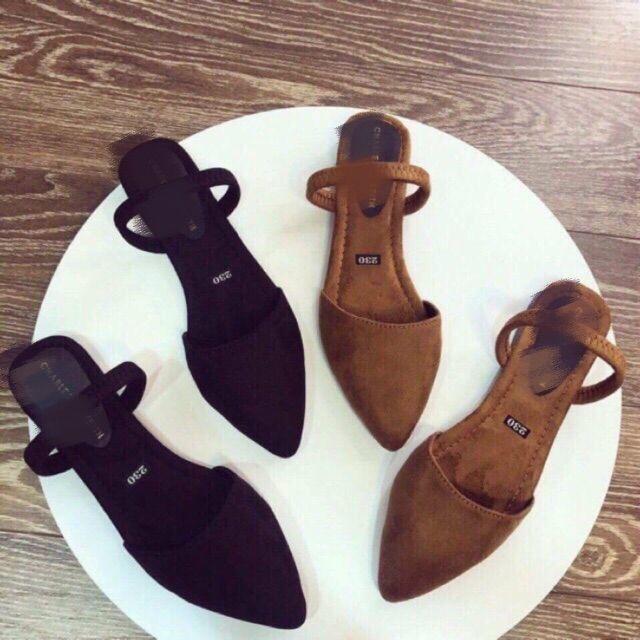 SALE-Giày búp bê quai choàng gót