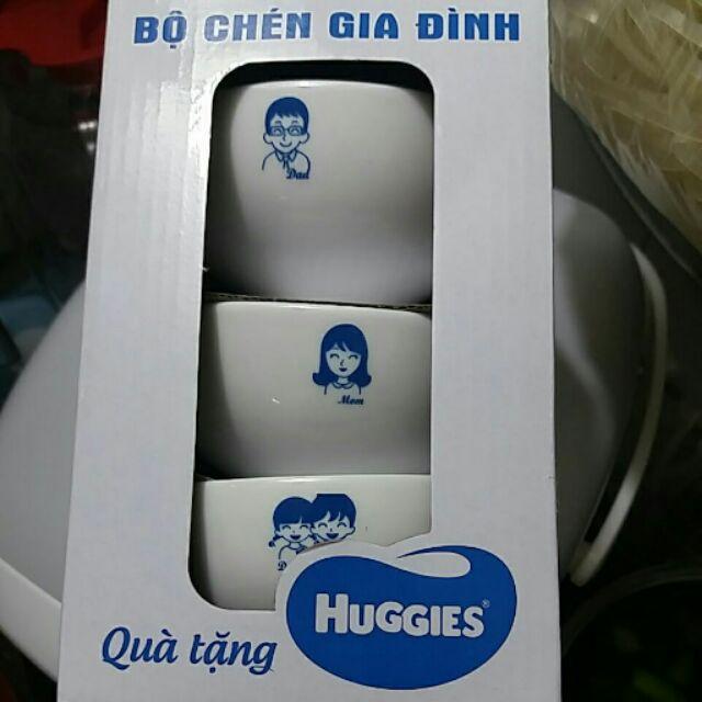 Bộ chén gia đình Huggies
