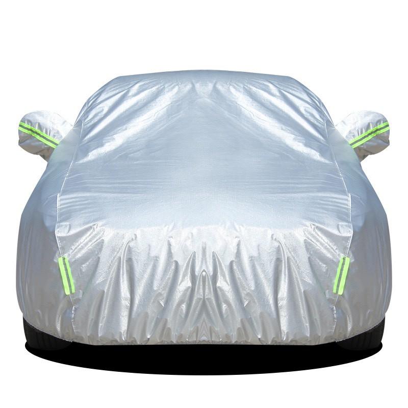 Bạt phủ xe ô tô, xe hơi, 3 lớp tráng nhôm cách nhiệt, chống nắng, chống xước, chống cháy