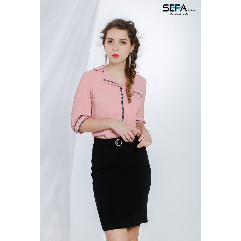 Chân váy ôm phụ kiện tròn hạt trai SEFA SFJIP191880