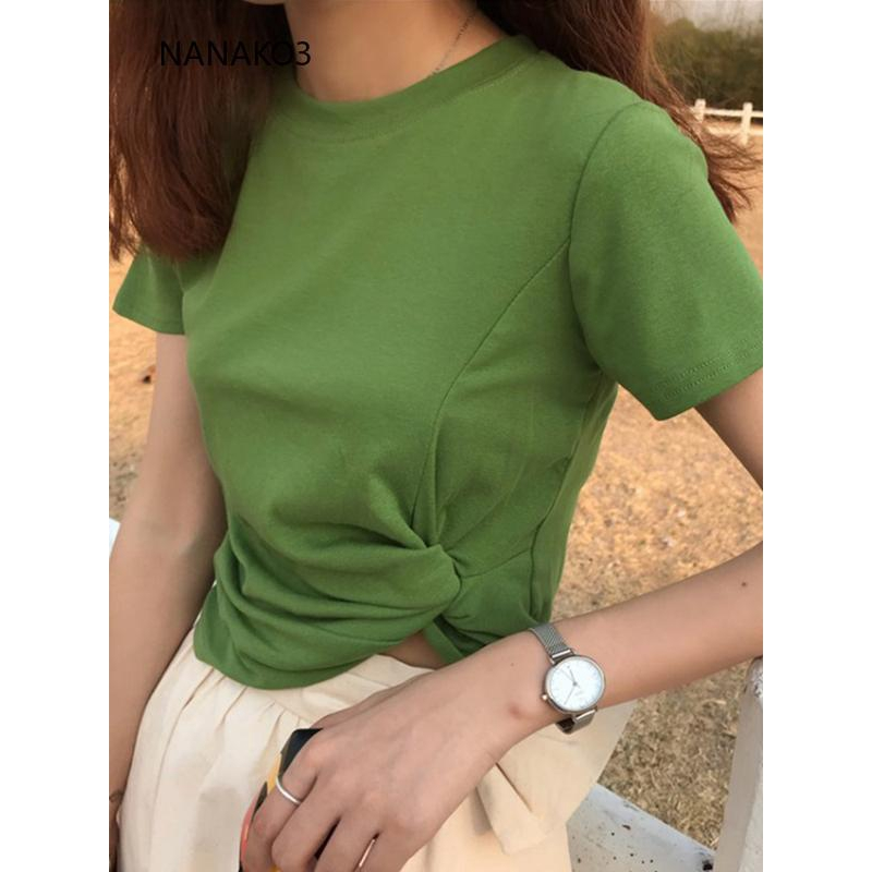 Áo thun nữ ngắn tay phong cách Hàn Quốc chất lượng cao