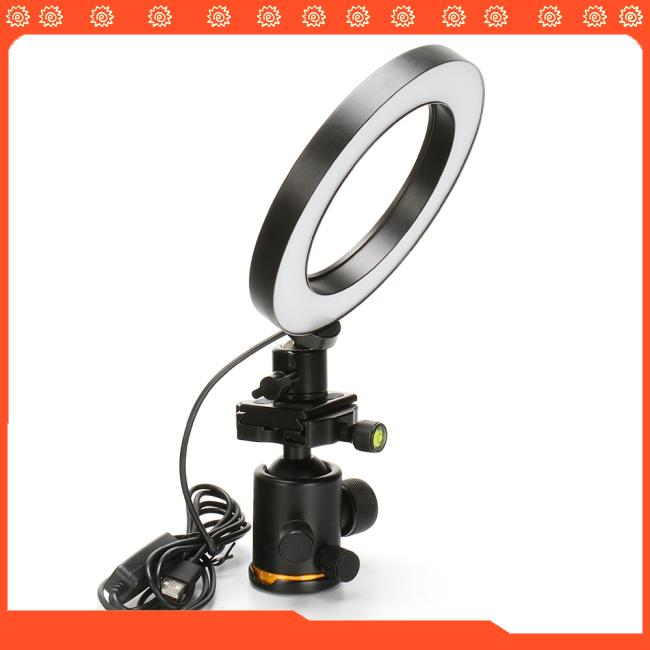 16/26cm Dimmable LED Studio Camera Ring Light Phone Video Light Lamp Selfie Stick Ring Table Fill