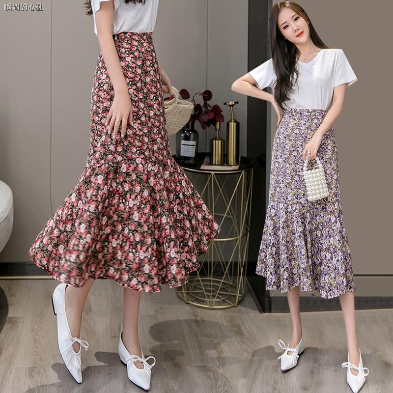 Chân Váy Voan Hoa Lưng Cao Xinh Xắn Dành Cho Nữ 2020