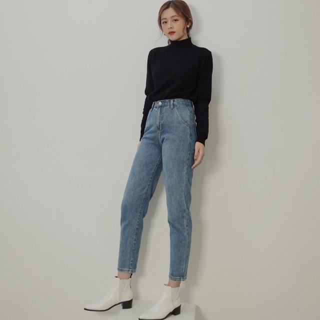 Quần jeans dáng côn