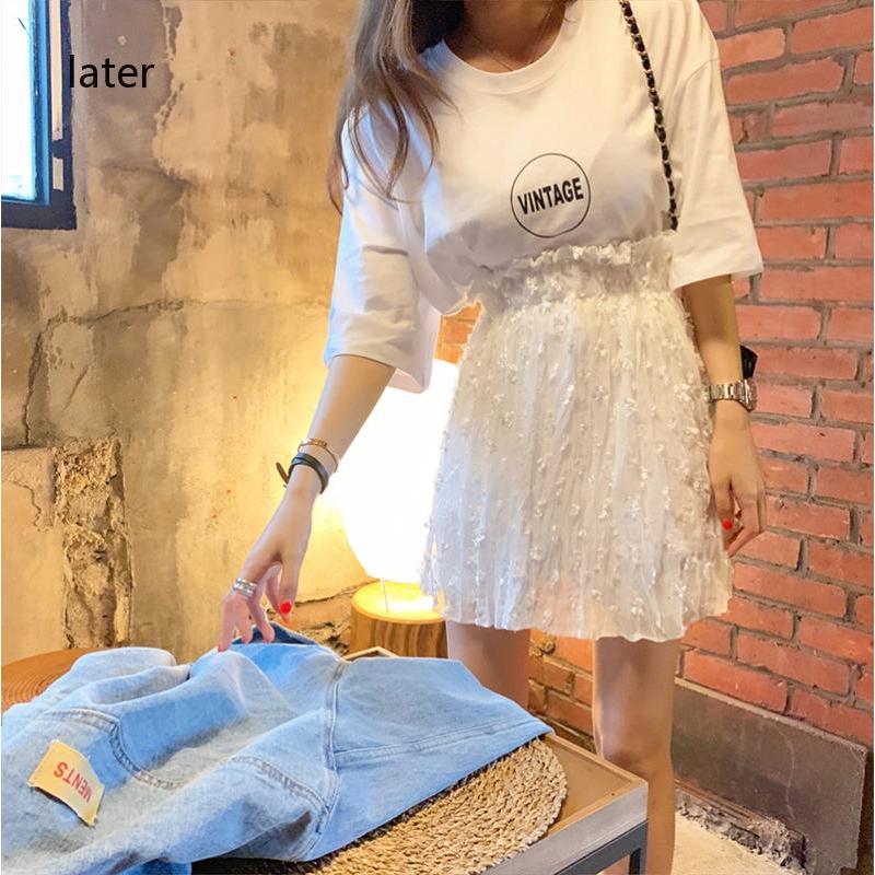 Chân Váy Chữ A Lớp Đàn Hồi Phong Cách Hàn Quốc Nữ Tính