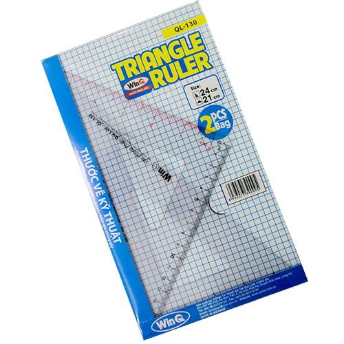 Thước vẽ kỹ thuật, thước eke, Eke Ruler, Triangle Ruler QL-130