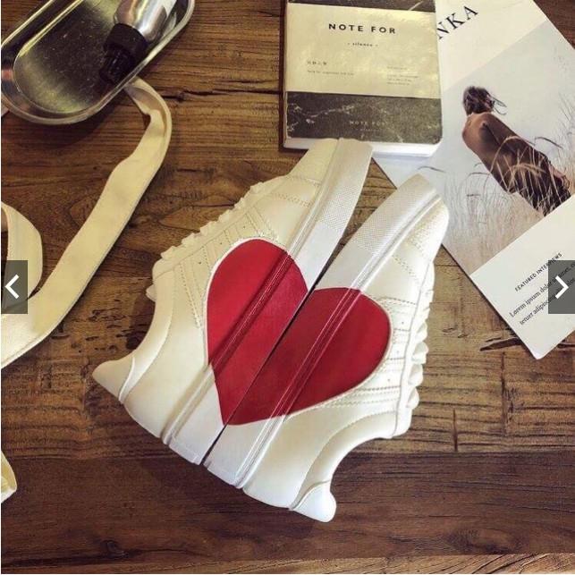 Xả kho (Full BOX) Giày sneakers thể thao nữ in hình trái tim siêu hót