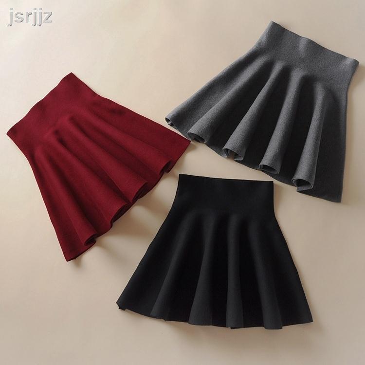 Chân Váy Xòe Màu Xám Thời Trang Mùa Thu Có Size Lớn Cho Nữ