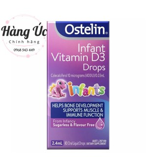 Vitamin D3 Drop Ostelin💥FREESHIP💥 Vitamin D3 drop 2,4ml cho trẻ