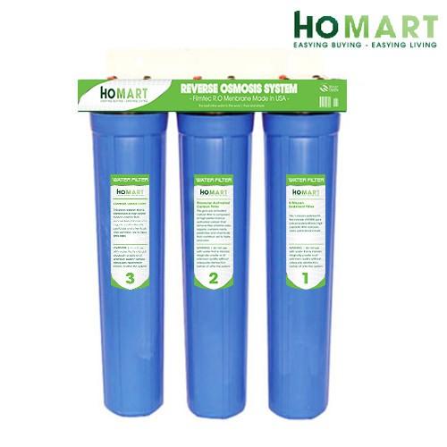 Bộ lọc nước sinh hoạt 3 cấp ly 20'' (Xanh)