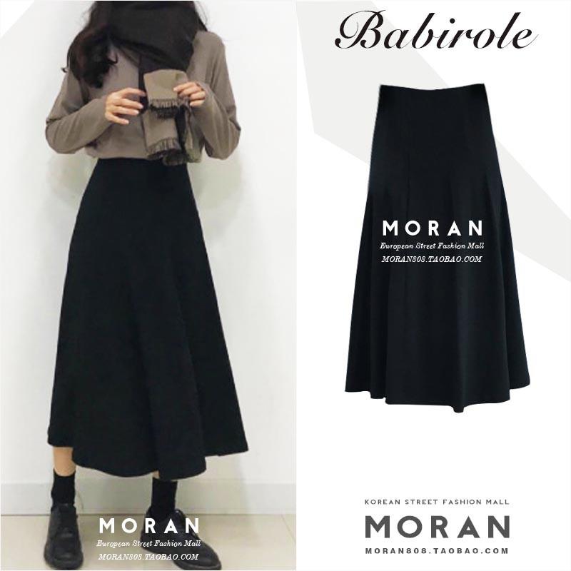 CÁMELLIAvn order Chân váy đen dáng dài MORAN Hàn Quốc có ảnh thật